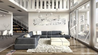 A luxurious living room with great floor design