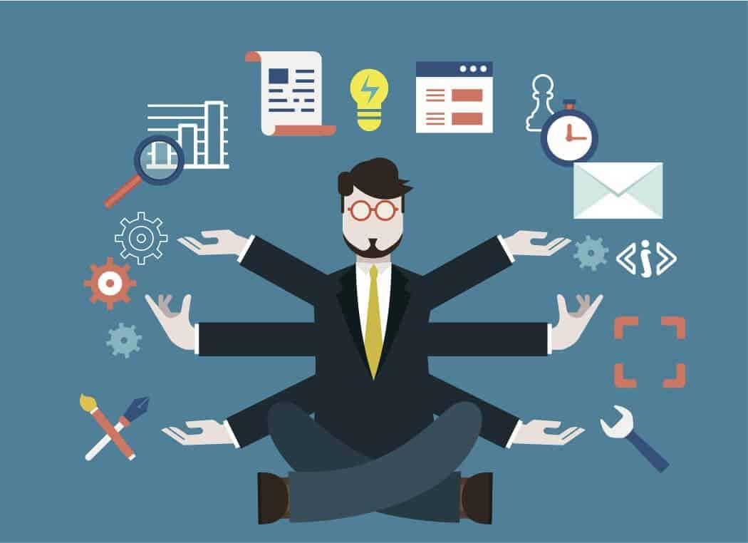 Multitasking entrepreneur