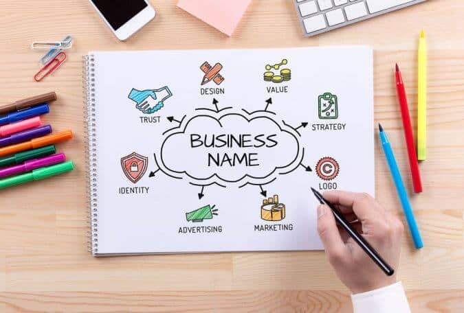 business name creation board